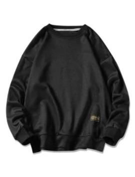 Sale Graphic Printed Casual Fuzzy Sweatshirt   Black Xl by Zaful