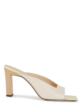 Isa 85 Off White Leather Sandals by Wandler