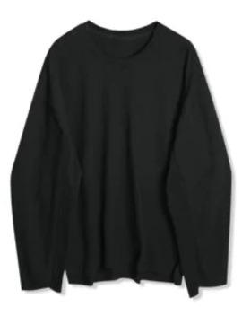 Sale Solid Drop Shoulder Dip Hem Slit Sweatshirt   Black M by Zaful