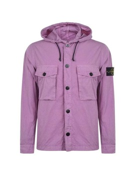 Canvas Hooded Overshirt by Stone Island