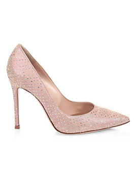 Gianvito Embellished Suede Pumps by Gianvito Rossi