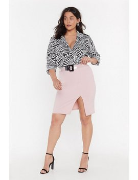 Ms Split Front Midi Skirt by Nasty Gal