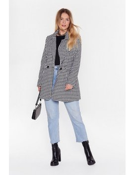 I Houndstooth You Longline Blazer by Nasty Gal
