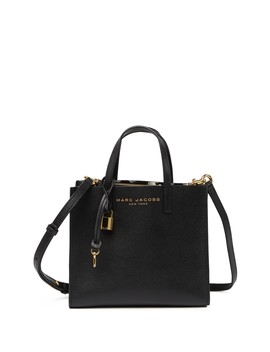 Mini Grind Coated Leather Tote by Marc Jacobs