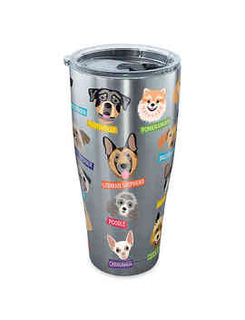 Tervis® Flat Art Dog Breed 30 Oz. Tumbler With Lid In Stainless Steel by Bed Bath And Beyond