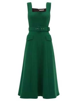Petra Belted Wool Crepe Dress by Emilia Wickstead