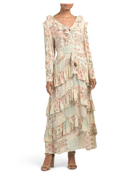 Juniors Rising Sun Maxi Dress by Tj Maxx