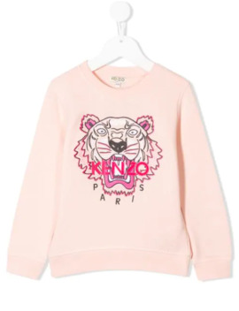 Logo Tiger Print Sweatshirt by Kenzo Kids