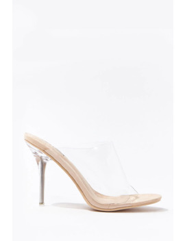 Open Toe Lucite Stiletto Heels by Forever 21