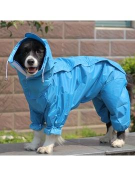Large Pet Dog Raincoat Waterproof Rain Clothes Jumpsuit For Big Medium Small Dogs Golden Retriever Outdoor Pet Clothing Coat by Ali Express.Com
