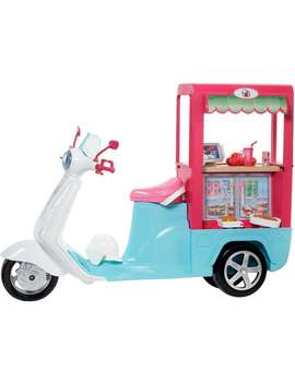 Barbie Bistro Cart, 3 Wheeled Scooter With Register & Food by Barbie