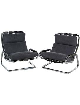Pair Of Cantilever Lounge Chairs by Furniture