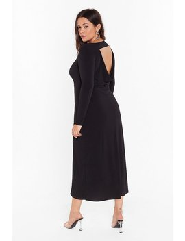 Cowl You Back Later Plus Midi Dress by Nasty Gal