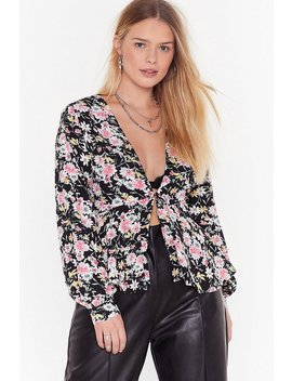 Flower Can I Refuse Plus Floral Blouse by Nasty Gal