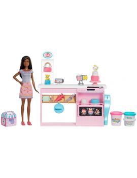 Barbie Cake Decorating Playset With Brunette Baker Doll by Barbie