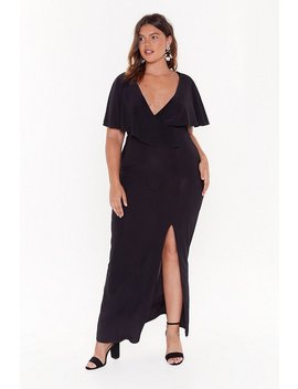 Wrap This Up Plus V Neck Maxi Dress by Nasty Gal