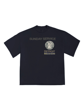 Kanye West Sunday Service Detroit T Shirt Navy by Stock X