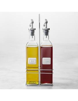 Oil & Vinegar Bottles In Caddy by Williams   Sonoma
