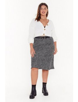 It's Spot Over Plus Midi Skirt by Nasty Gal