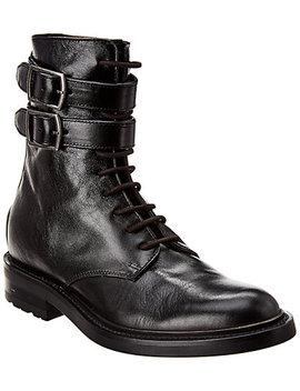 Saint Laurent Studded Leather Army Boot by Saint Laurent