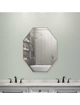 Gold Octagon Infinity Frameless Wall Mirror by Kirkland's