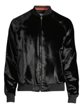 Crushed Velvet Bomber Jacket by Paul Smith