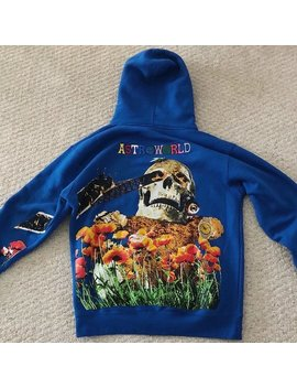 Travis Scott Governors Ball Skull Astroworld Hoodie Embroidery 1:1 High Quality Astroworld Sweatshirts Astroworld Pullover by Ali Express.Com