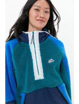 Nike Sportswear Colorblock Sherpa Half Zip Jacket by Nike