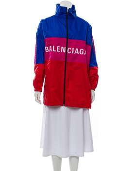 Stand Collar Zip Up Jacket by Balenciaga