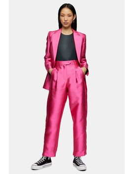 **Hot Pink Mensy Trousers By Topshop Boutique by Topshop