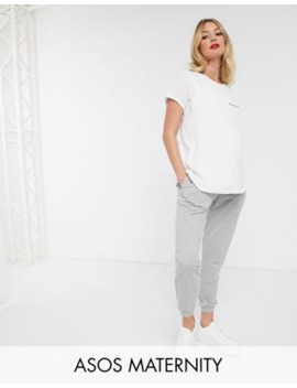 Asos Design Maternity Basic Jogger With Tie by Asos Design
