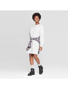 Women's Long Sleeve Crewneck Mini Sweatshirt Dress   Universal Thread™ by Universal Thread