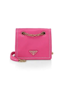 Small Tessuto Chain Shoulder Bag by Prada
