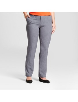 Women's Straight Leg Curvy Bi Stretch Twill Pants   A New Day™ Gray 6 by A New Day