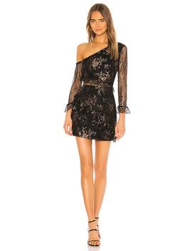 Oriana Mini Dress In Black & Bronze by Lovers + Friends