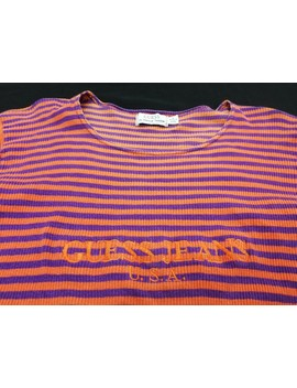 Vintage Guess Jeans Usa Striped Tee By Georges Marciano Stretchable T Shirt by Vintage  ×  Guess  ×  Designer  ×