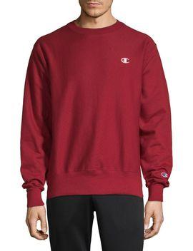 Logo Cotton Blend Sweatshirt by Champion Reverse Weave