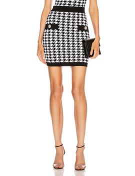 Houndstooth Mini Skirt by Balmain