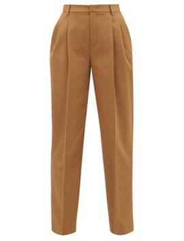 High Rise Cotton Blend Tapered Trousers by Red Valentino