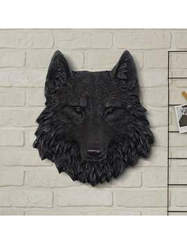 The Sierra    Faux Wolf Head By Wall Charmers™ Faux Taxidermy   Fake Animal Head Mount   Forest Ceramic Plastic Resin Fauxidermy Wall Decor by Etsy