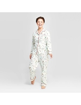 Women's Holiday Ski Scene Pajama Set   Hearth & Hand™ With Magnolia by Shop Collections