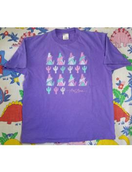Vintage Oneita Arizona Purple Coyote Shirt 92 Made In Usa by Vintage  ×