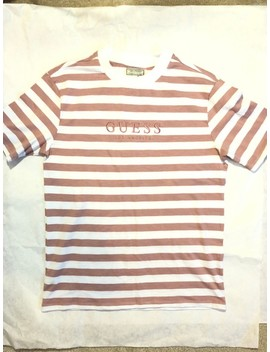 Guess Vintage Striped Pink T Shirt Size Small by Vintage  ×  Guess  ×