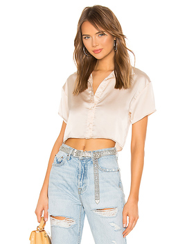 Miriam Button Up Top In Champagne by Superdown