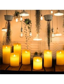 3 D Outdoor Led Candle With Timer Flickering Flameless Candles Flickering Outdoor by Unbranded