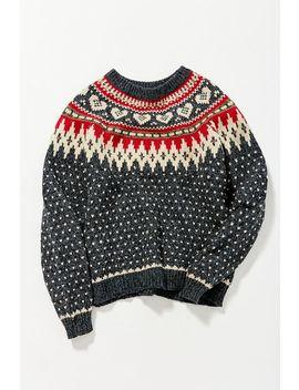 Vintage Dark Grey Printed Sweater by Urban Renewal