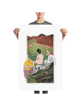 Lady & Mountains Matte Poster |Pop Art | Retro Art | Trendy Art |Poster| Wall Art| Vintage Art| Dorm Room Poster | Colorful Poster | Surreal by Etsy