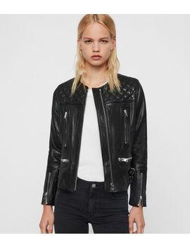 Milou Leather Biker Jacket by Allsaints
