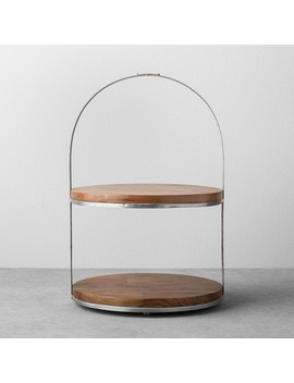 2 Tier Wood & Metal Cake Stand   Hearth & Hand™ With Magnolia by Shop Collections