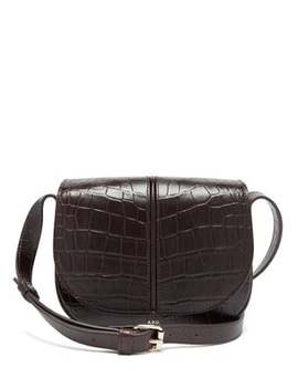 Betty Crocodile Effect Leather Shoulder Bag by A.P.C.